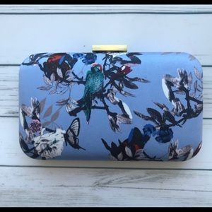 J.Crew Blue Botanical Clutch